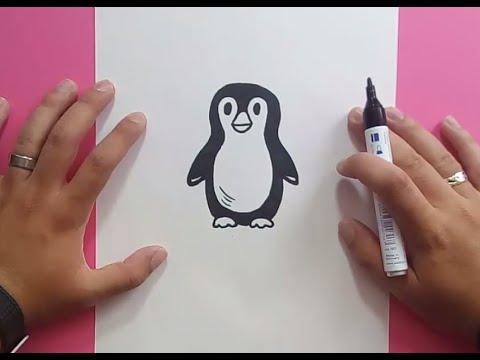 Como Dibujar Un Pingüino Paso A Paso | How To Draw A Penguin