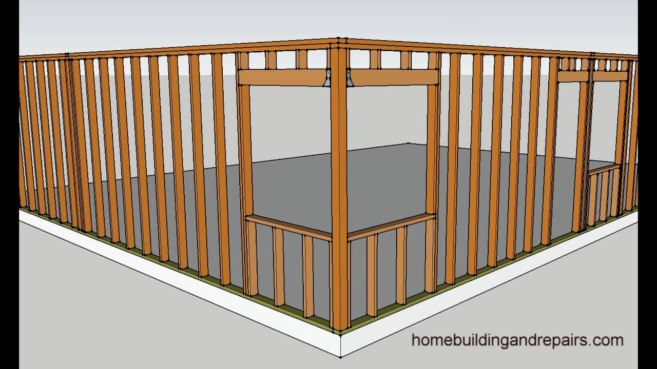 Four examples of how to frame corner window walls home for How to build an a frame home