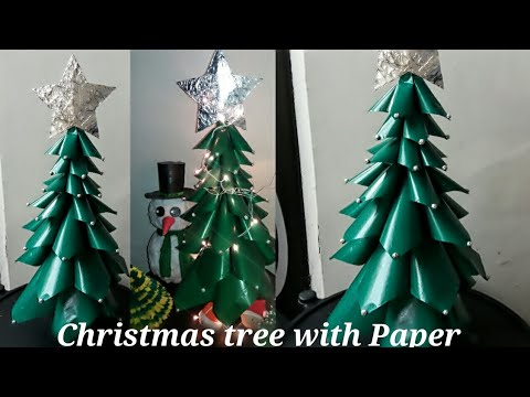 Medium Size Christmas Tree  With Paper