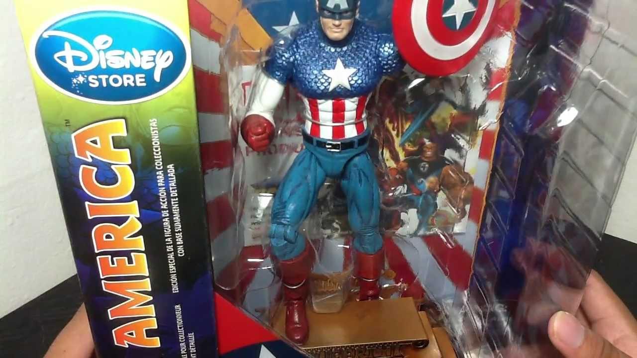 Marvel Select Classic Comic Captain America Action Figure Disney Store Exclusive