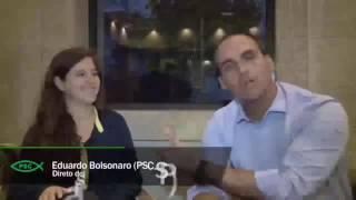Eduardo Bolsonaro entrevista residente de Israel