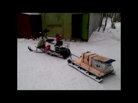 Сани для снегохода своими руками видео
