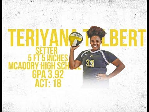 Teriyana Tolbert 5'5 Setter McAdory High School (Volleyball)
