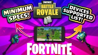 fortnite android devices compatible list and minimum requirements hindi - what are the minimum specs for fortnite