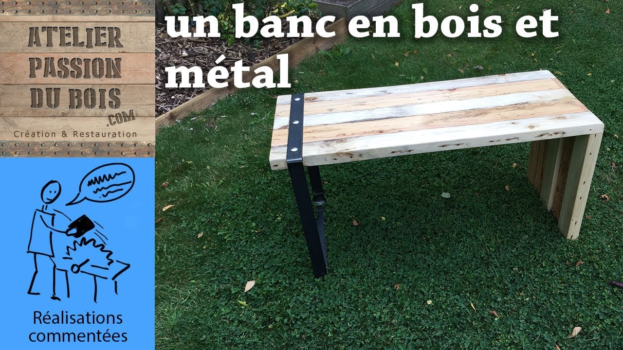 Banc AsymÉtrique En Bois & Metal (recycling)  Youtube