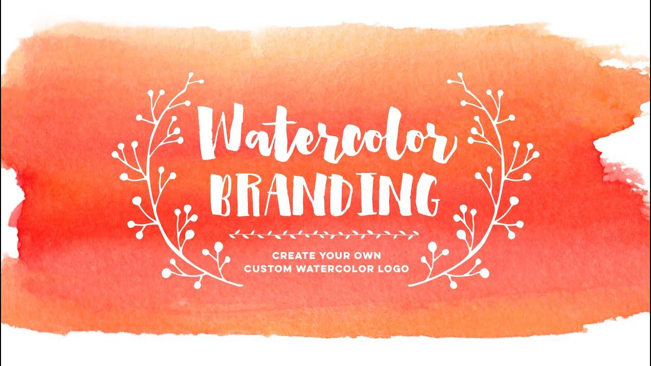 Create Your Own Custom Watercolor Logo