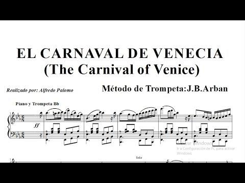 Partitura Carnaval de Venecia (Sheet Music Carnival of Venice) Trompeta y Piano J. B. Arban´s