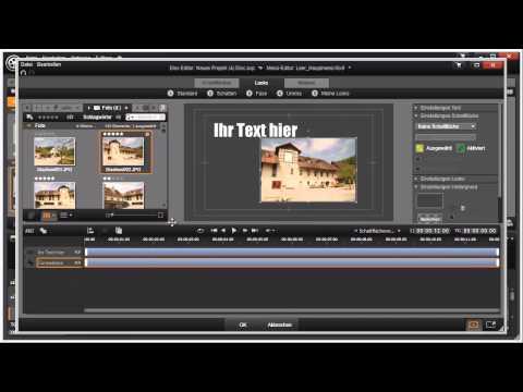 Reihenfolge ändern im Disk Editor von Pinnacle Studio 16 und 17 Video 107 von 114