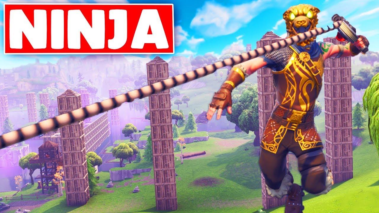 Insane Ninja Warrior Course Across The Map Fortnite Custom Game