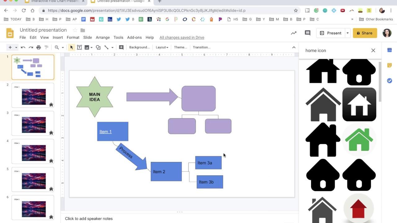 Create An Interactive Flowchart In Google Slides Using