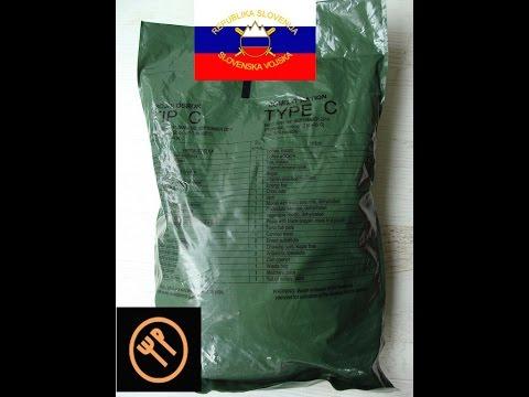 Slovenian army 24h ration - menu C (BB 2014) - part 2