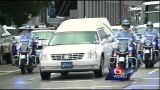 Raw Video: Funeral procession for NOPD Officer Natasha Hunter