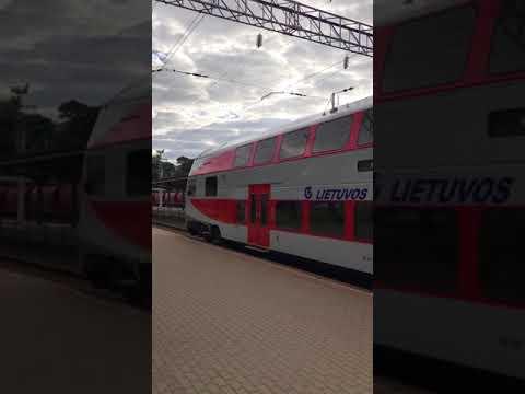 ヴィリニュスへ向かう電車。