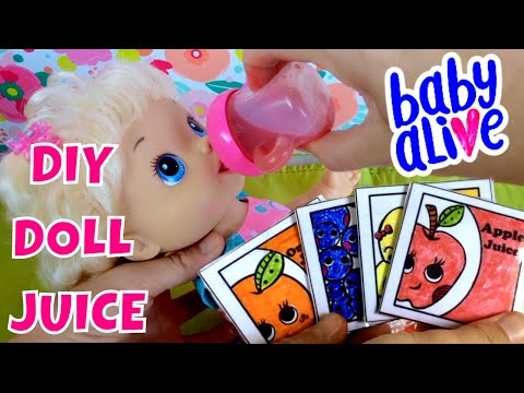 Wets Wiggles Doll Drinks Our Diy Doll Juice Make Your Own Juice Packets With Us Throwback Youtube