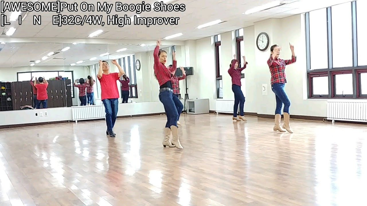 Put On My Boogie Shoes Line Dance Jaszmine Tan Youtube