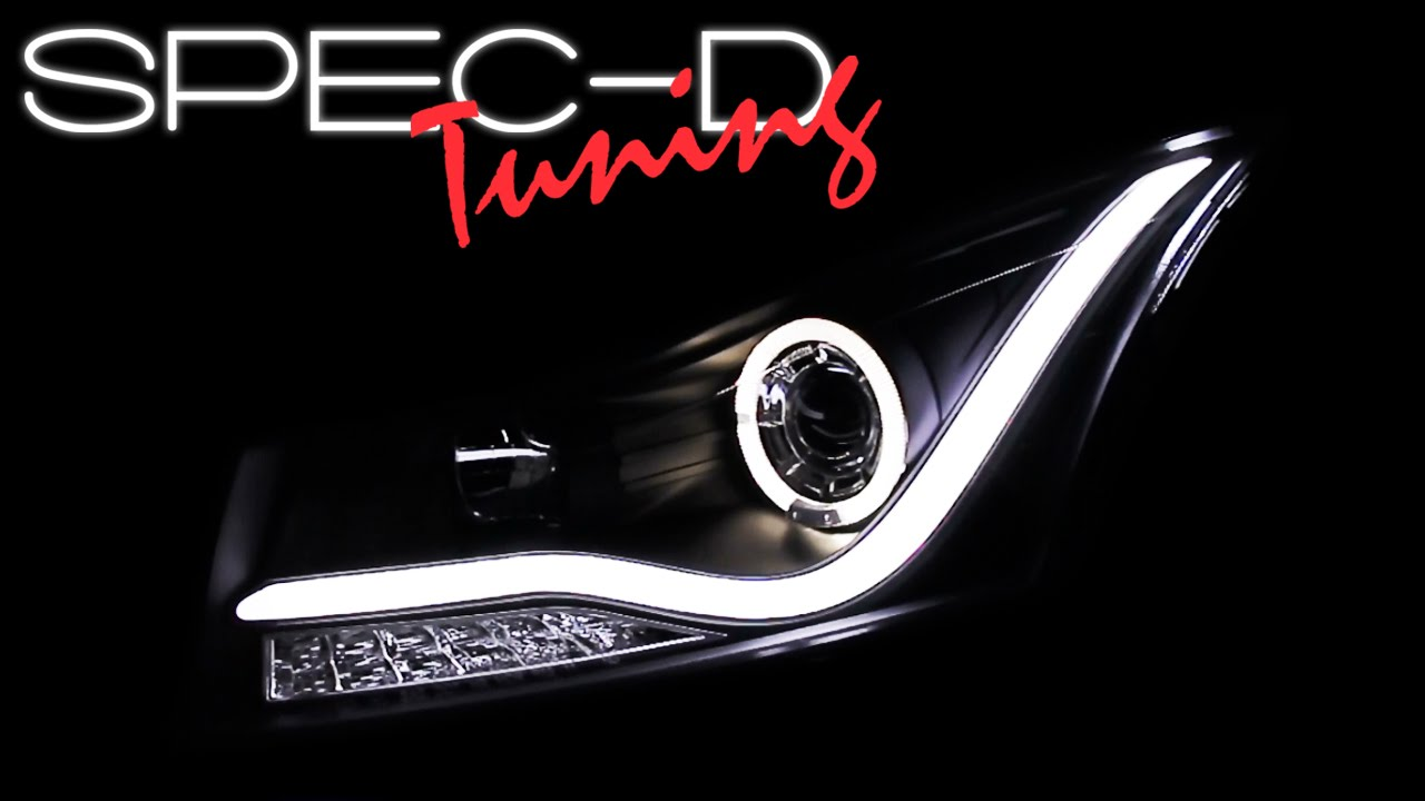 Chevy 2011 chevy cruze specs : SPECDTUNING DEMO VIDEO: 2011-2014 CHEVY CRUZE HALO LED PROJECTOR ...