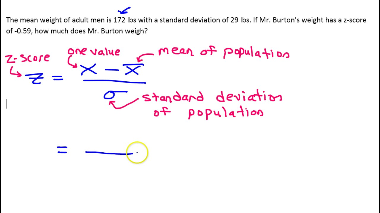 4c How Do You Find A Value Given Z Score, Mean And Standard Deviation