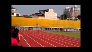 101年臺中市國小田徑錦標賽200公尺決賽清水國小楊士奇打破大會紀錄