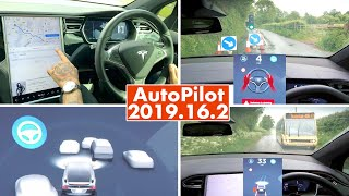 Watch how DANGEROUS the new EU Tesla AutoPilot Ban is... Extreme 2019.16.2 Review / Testing