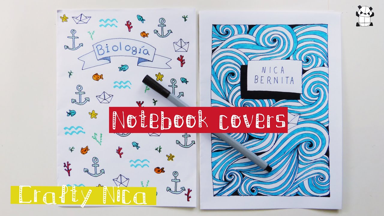 How To Decorate Notebooks Diy Notebook Cover Ideas Sea Inspired