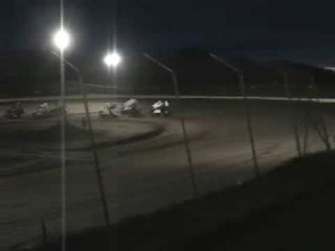 Cody Hahn Sprint Car Race at Kopellah Speedway 5/8/2009 Part 1 (heat & challenge)