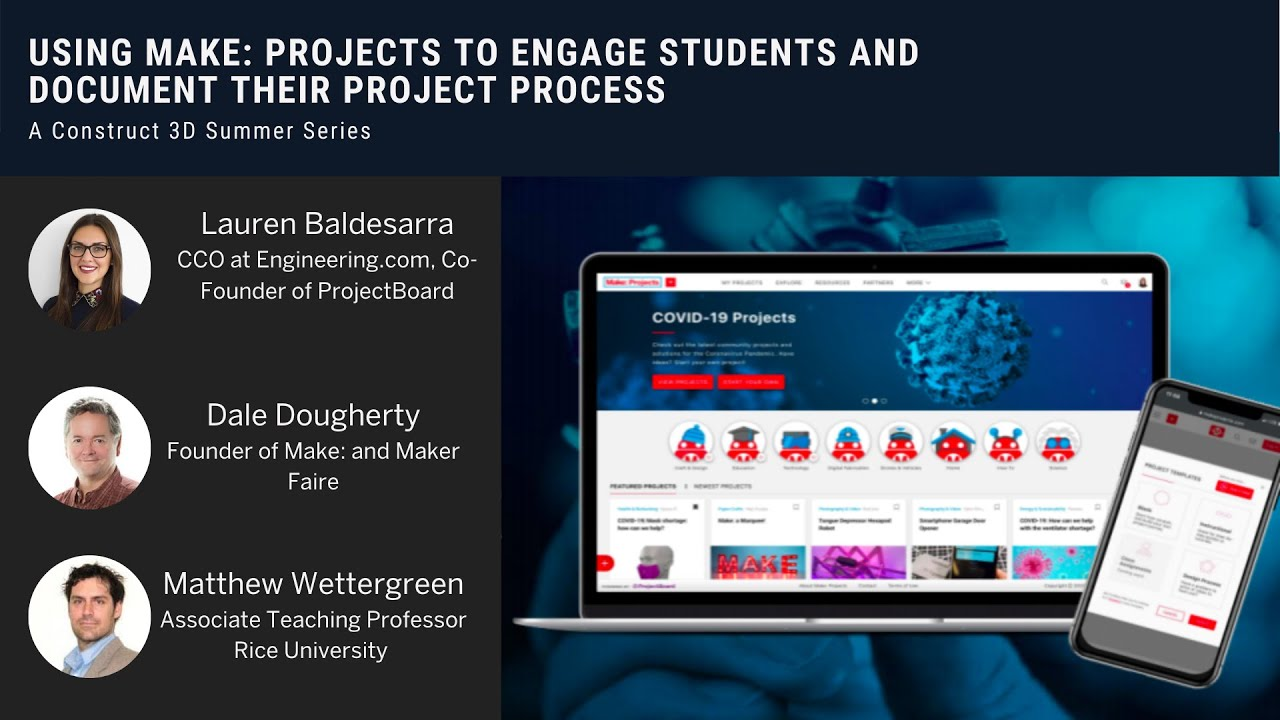 Using Make: Projects to Engage Students and Document Projects