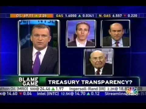 Treasury Dept. Hides Taxpayer Contracts, CNBC - 10/23/08