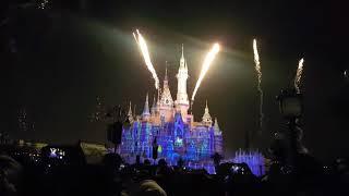 상해 디즈니랜드  불꽃놀이
