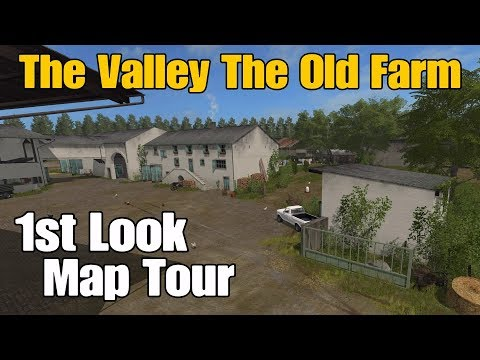 Let's Play Farming Simulator 17 PS4: The Valley The Old Farm 1st Look Map Tour!