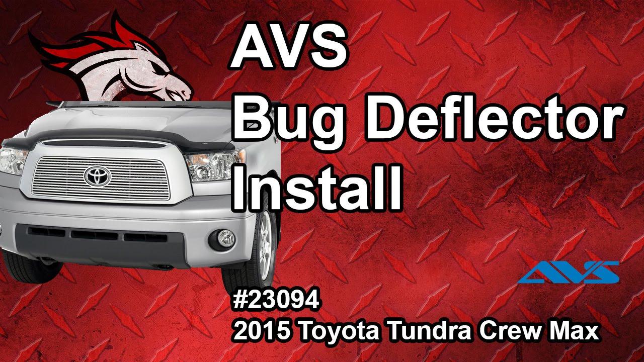 Avs bug deflector shield install 15 toyota tundra crew max