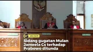 Sidang gugatan Mulan Jameela Vs terhadap Prabowo ditunda