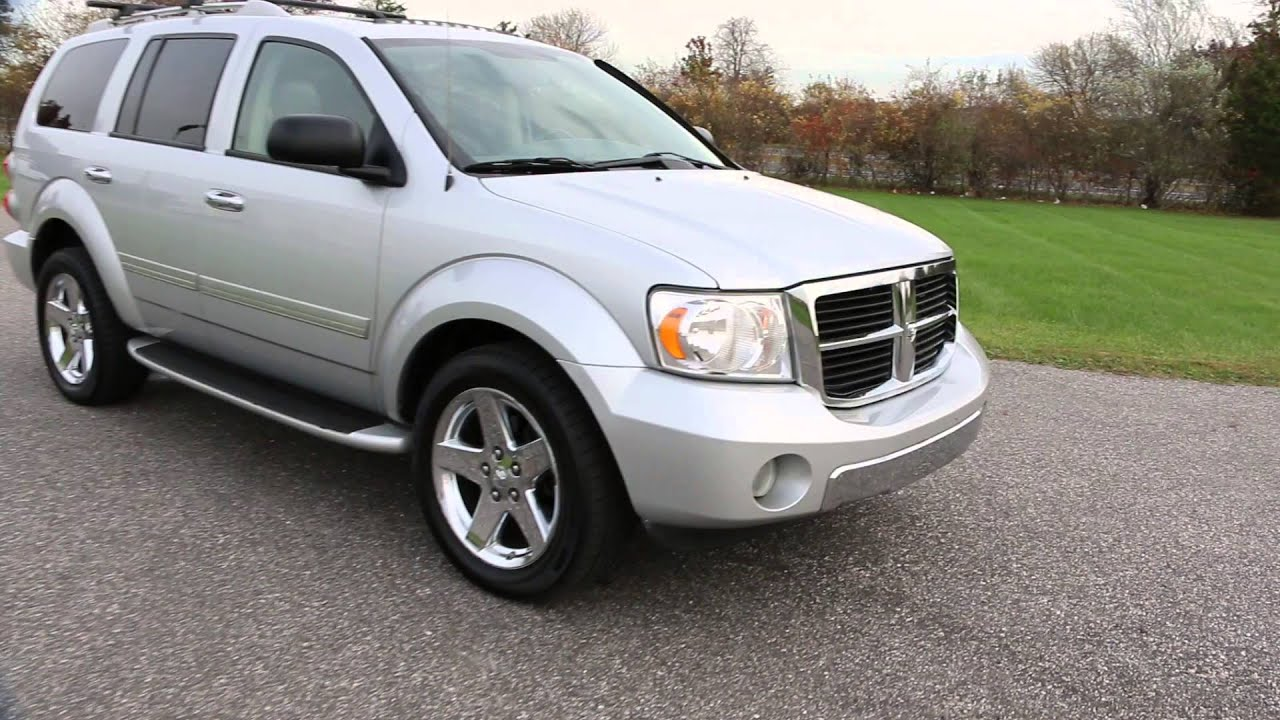 2008 Dodge Durango Limited For Hemi Leather Moon Chrome Wheels Navi Dvd Loaded