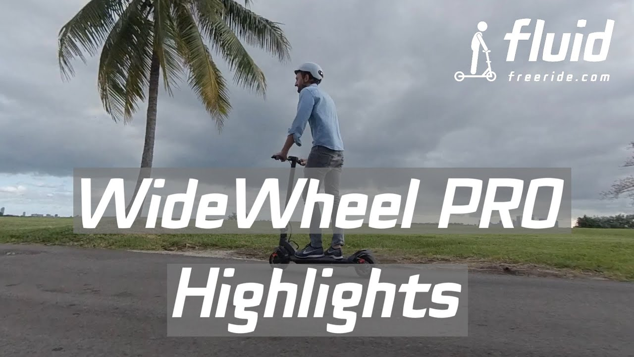 Mercane WideWheel PRO 2020 - Highlights - 1000W dual motor electric commuter scooter