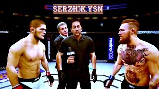 UFC БОЙ Хабиб Нурмагомедов vs Конора МакГрегора (com. vs com.)