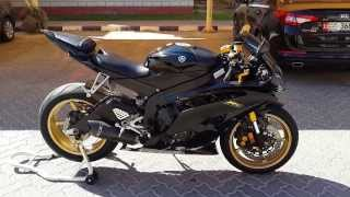 Yamaha R6 Black And Gold Full Akrapovic Sound