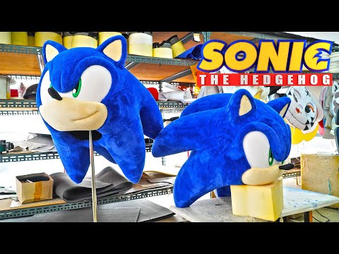 Mascot Costumes | 着ぐるみ |  Is It A Real '#Sonic The Hedgehog'!? Making Film With ASMR (ENG SUB)