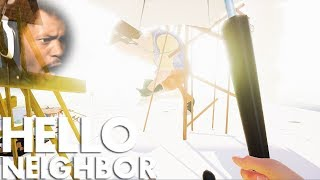 WE FINALLY BEAT GIANT NEIGHBOR!! | Hello Neighbor #9 (BETA BOSS ENDING)