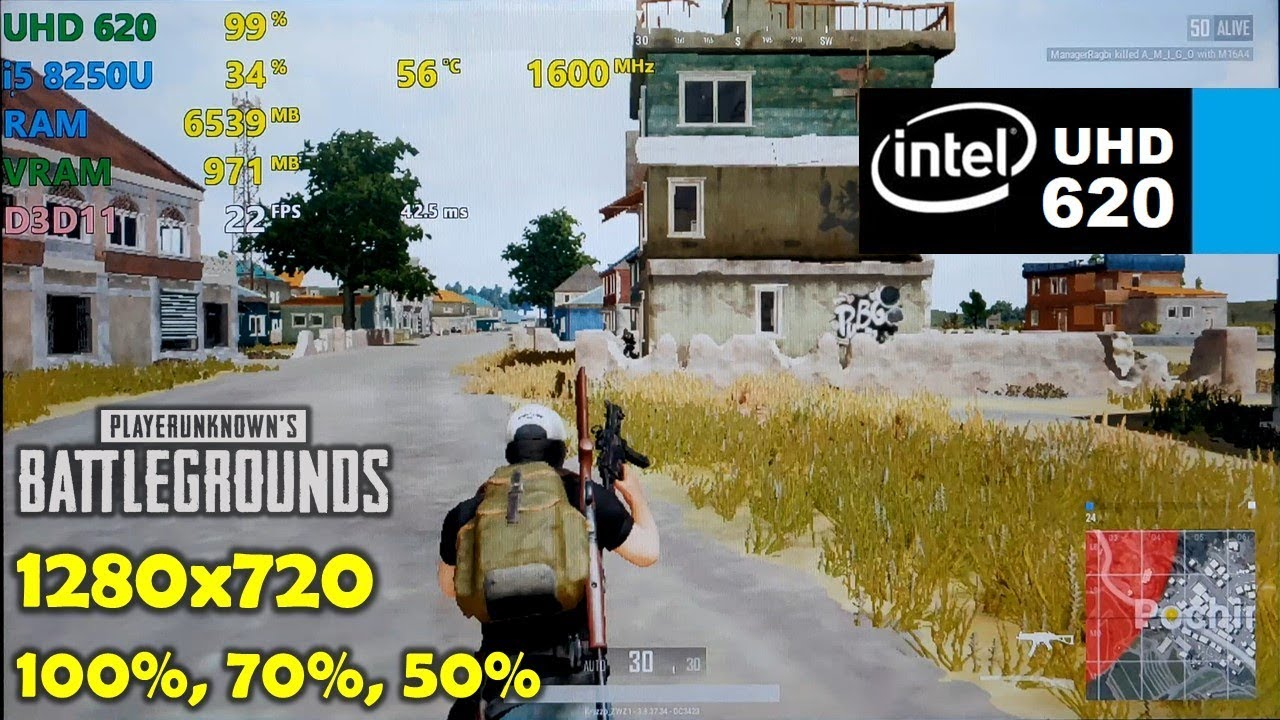 Pubg With Intel Hd Graphics: PUBG - 720p 50%, 70%, 100% Resolution