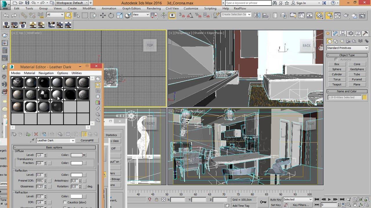 Inserire immagine sfondo 3ds max