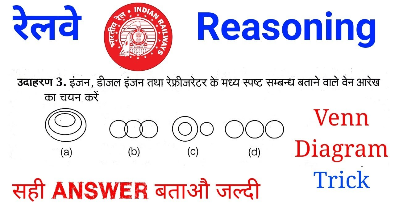 Railway reasoning online class venn diagram trick in hindi youtube railway reasoning online class venn diagram trick in hindi ccuart Choice Image