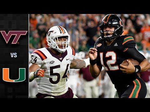 Virginia Tech vs. Miami Football Highlights (2017)