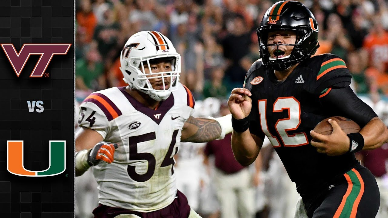 Virginia Tech Vs Miami Football Highlights 2017