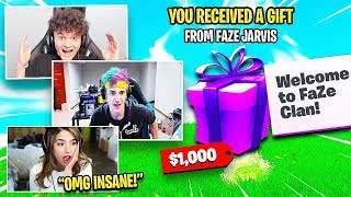 GIFTING SKINS TO POPULAR FORTNITE YOUTUBERS