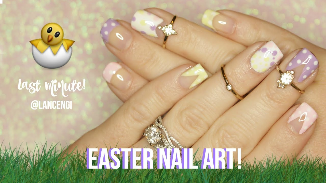 Last mintue easter nail art for beginners short nails youtube easter nail art for beginners short nails prinsesfo Choice Image