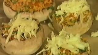 Видео рецепт: фаршированные шампиньоны