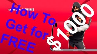 How to Get the * NEW * ICONIC Skin for FREE in Fortnite Battle Royale | $1000 + Samsung S10 + Skin