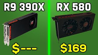 R9 390X vs RX 580 - COMPARISON