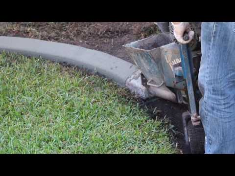 Installation of Cement Landscape Edging/Curbing - Awesome Machine!