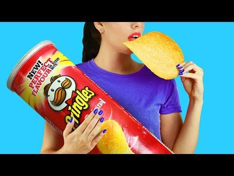 10 DIY Giant Snack vs Miniature Snack / Funny Pranks!
