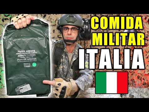 Probando COMIDA DE SUPERVIVENCIA MILITAR De ITALIA